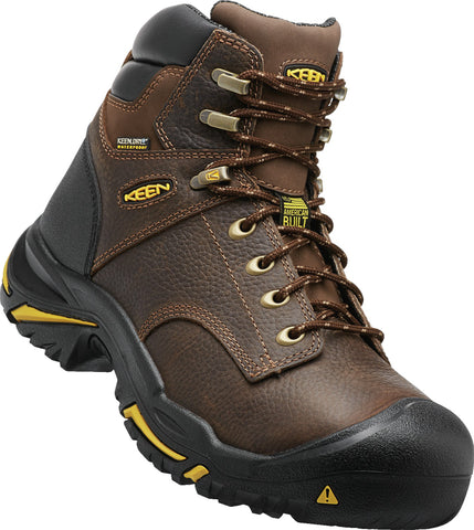 Keen Utility Cascade Brown Mens Mt Vernon 6in WP Nubuck Work Boots