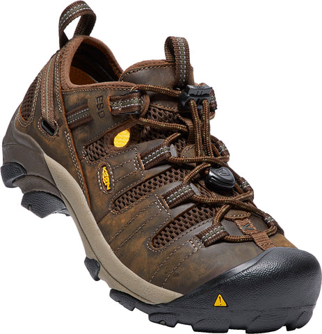 Keen Utility Cascade/Forest Mens Atlanta Cool ESD WR Nubuck Oxford Shoes