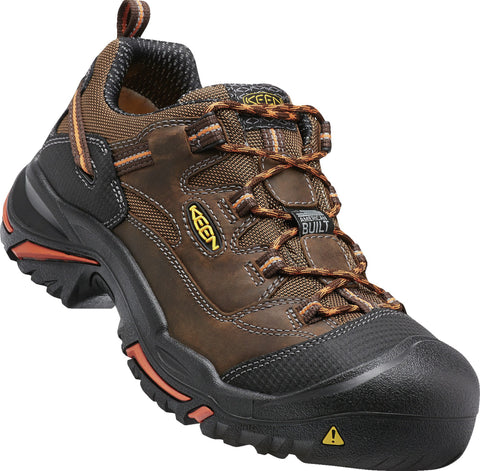 Keen Utility Cascade/Orange Mens Braddock Low WR Nylon Oxford Shoes