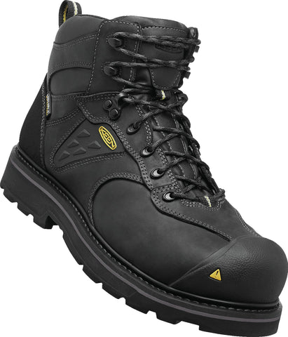 Keen Utility Black Mens Tacoma WP Leather Work Boots