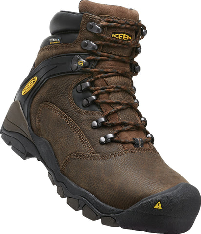 Keen Utility Cascade Brown Mens Louisville 6in WP Leather Work Boots
