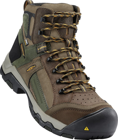 Keen Utility Shitake/Forest Mens Davenport Mid Al WP Nubuck Work Boots