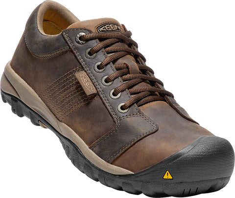 Keen Utility Brown Mens La Conner AT ESD WP Leather Sneaker Shoes