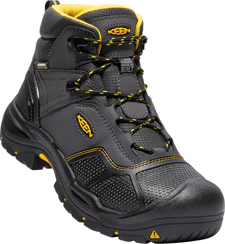Keen Utility Raven/Black Mens Logandale WP Synthetic Work Boots