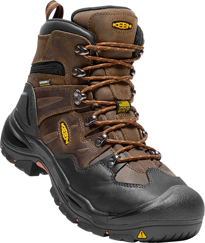 Keen Utility Cascade/Brindle Mens Coburg 6in WP Leather Work Boots