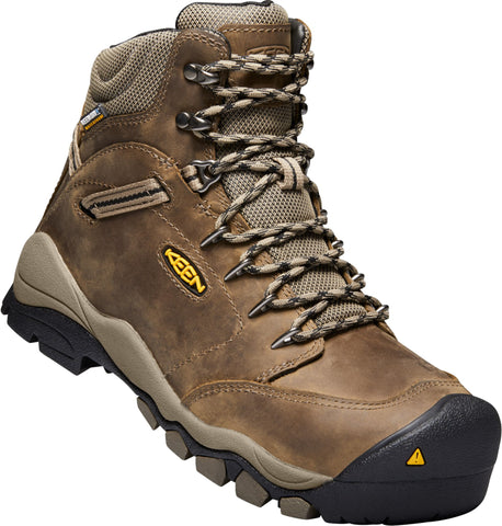 Keen Utility Shitake/Brindle Womens Canby 6in AT WP Suede Work Boots