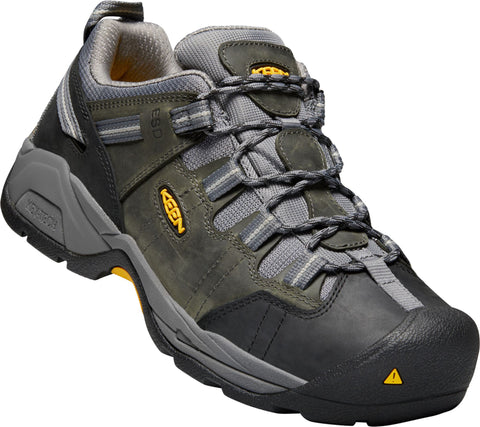 Keen Utility Steel Grey Mens Detroit XT Soft ESD WP Leather Work Shoes