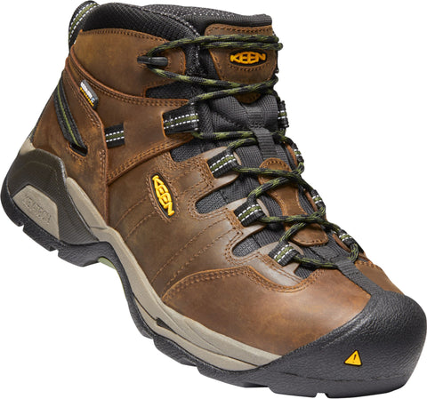 Keen Utility Brown/Green Mens Detroit XT Mid ST WP Leather Work Boots