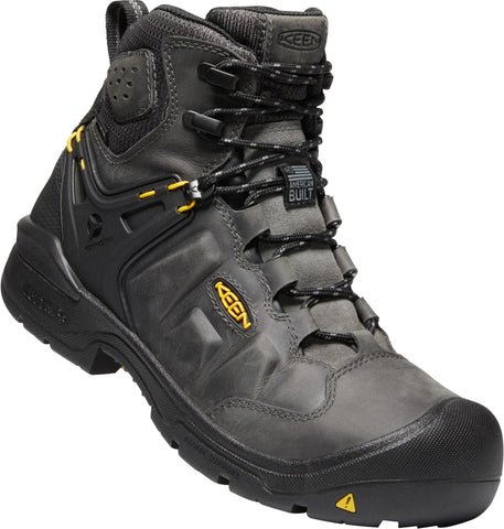 Keen Utility Magnet/Black Mens Dover 6in WP WP Leather Work Boots