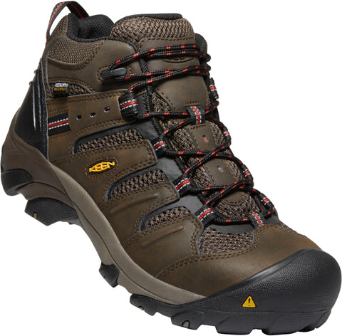 Keen Utility Cascade/Brindle Mens Lansing Mid WP Leather Work Boots