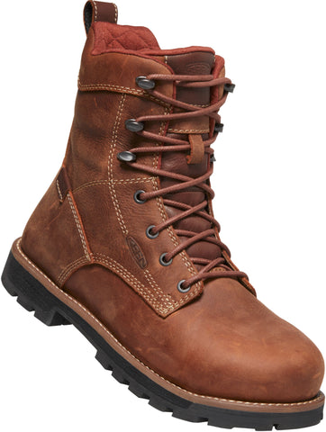Keen Utility Gingerbread/Blk Womens Seattle 8in WP Leather Work Boots
