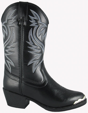 Smoky Mountain Boots Children Boys Mesquite Black Faux Leather Western 10 D