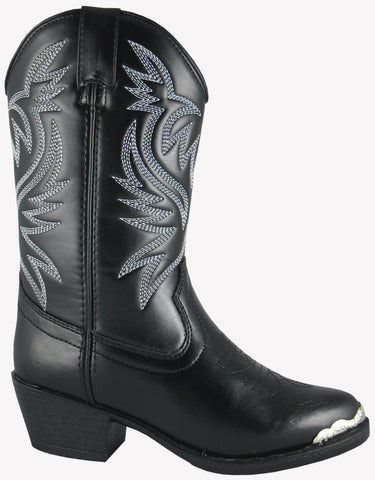 Smoky Mountain Boots Toddler Boys Mesquite Black Faux Leather Western