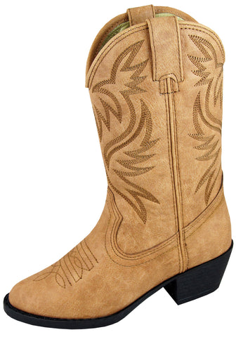 Smoky Mountain Boots Youth Boys Trenton Tan Faux Leather Western