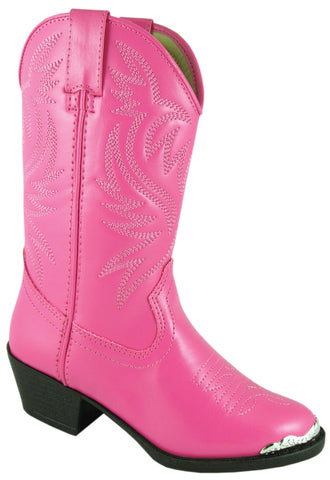 Smoky Mountain Boots Youth Girls Mesquite Hot Pink Faux Leather