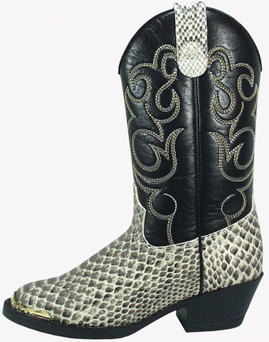 Smoky Mountain Boots Toddler Boys Laramie Black Python Print Cowboy