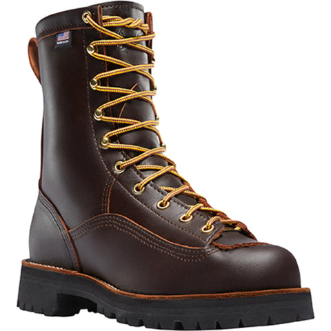 Danner Rain Forest 8in Mens Brown Leather Goretex Work Boots 10600