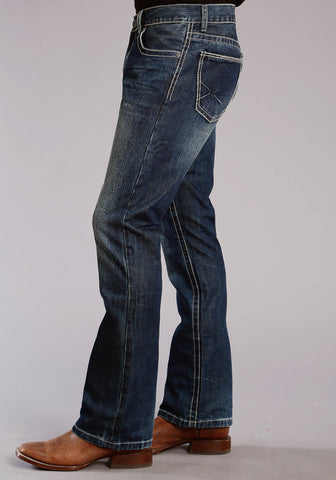 Stetson 1014 Mens Blue 100% Cotton X Pieced Jeans