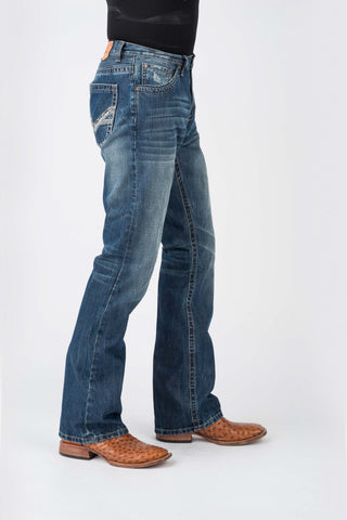 Stetson Mens Blue 100% Cotton Heavy V Shape Jeans