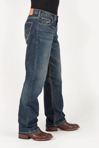 Stetson 1312 Mens Blue 100% Cotton Corded Stitch Jeans