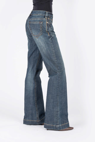 Stetson Womens Blue Cotton Blend Circle Stitch Jeans
