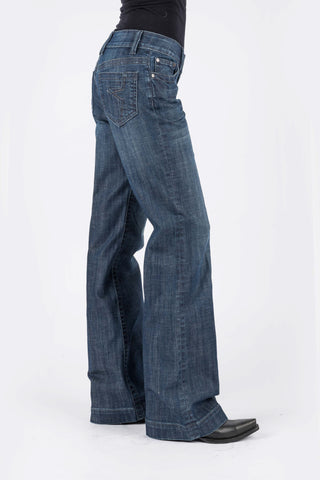 Stetson Womens Blue Cotton Blend 214 Jagged Edge Jeans