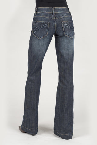 Stetson Womens Blue Cotton Blend S Denim Jeans