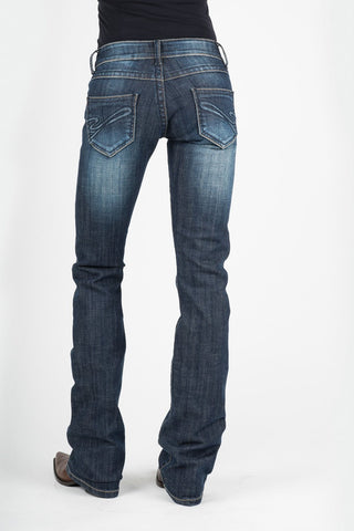 Stetson Womens Blue Cotton Blend Tonal S Jeans