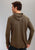 Stetson Mens Gray Cotton Blend Thermal Slub L/S Hoodie Knit Totem Shirt
