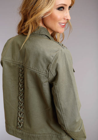 Stetson Womens Olive 100% Cotton Cording Jacket