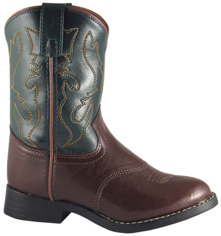 Smoky Mountain Boots Children Boys Diego Brown/Green Faux Leather Cowboy