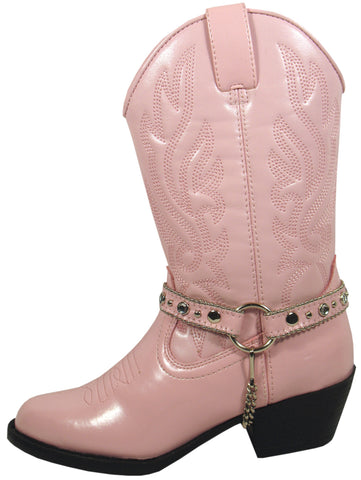 Smoky Mountain Boots Youth Girls Charleston Pink Faux Leather Cowboy