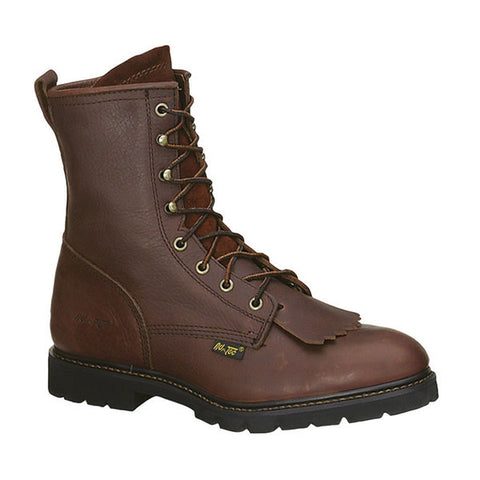 AdTec Mens Chestnut 9in Lacer Work Boots Leather Packer