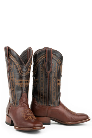 Stetson Denver Mens Brown Leather 13in Chocolate Goat Boots