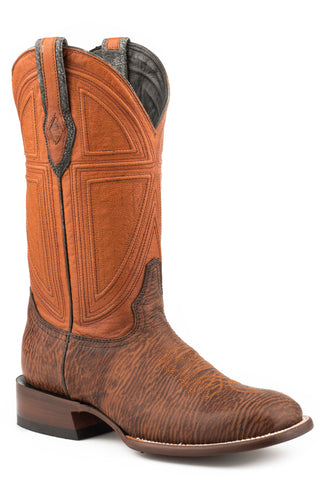 Stetson Mens Oiled Brown Shark 13In Cowboy Boots