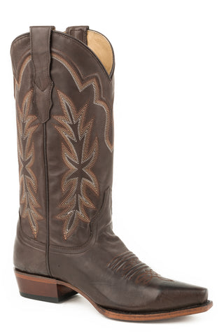 Stetson Womens Tobacco Leather Casey Cowboy Boots
