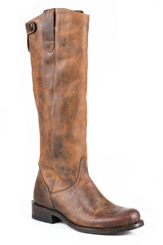 Stetson Dover Ladies Brown Leather 16in Knee High Fashion Boots