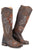 Stetson Aloha Womens Brown Leather 16In Hibiscus Fashion Boots