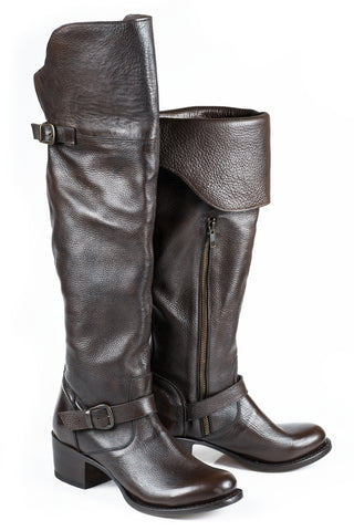 Stetson Bianca Ladies Brown Leather 20in Over The Knee Fashion Boots
