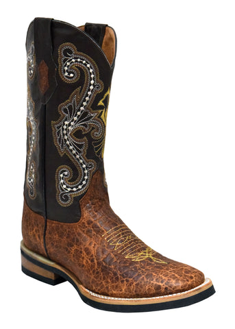 Ferrini Mens Cigar Acero Leather S-Toe Cowboy Boots