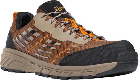 Danner Run Time Mens Brown Textile CT EH Work Shoes
