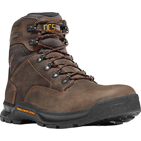 Danner Crafter 6in Mens Brown Leather Waterproof EH Work Boots 12433