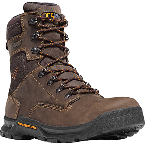 Danner Crafter 8in Mens Brown Leather Waterproof DCS EH Work Boots 12437