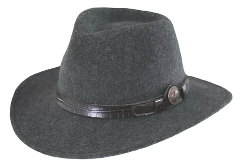 Outback Trading Co. Collingsworth Mens Hat Gray Australian Wool UPF50