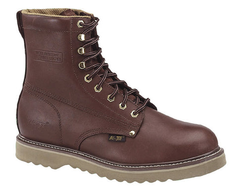 AdTec Mens Redwood 8in Farm Boots Full Grain Leather Plain Toe