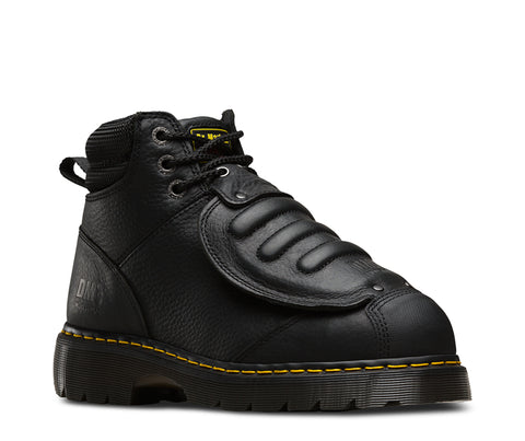 Dr Martens Black Unisex Ironbridge Mg ST Grizzly Leather Work Boots