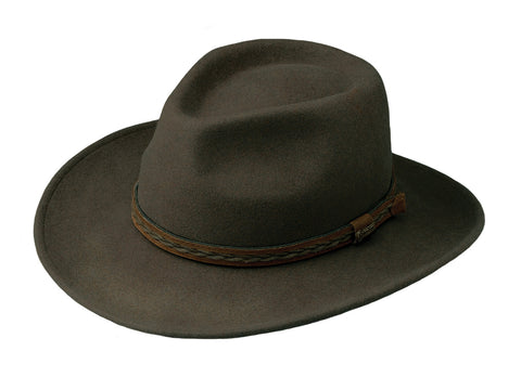 Outback Trading Co. High Country Mens Hat Serpent Australian Wool UPF50