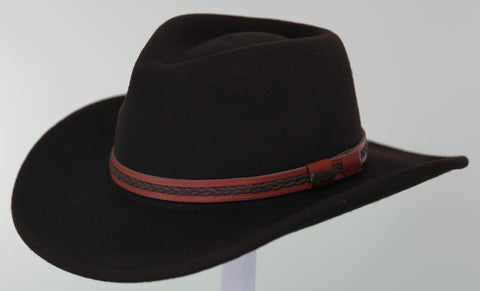 Outback Trading Co. High Country Mens Hat Tanbark Australian Wool UPF50