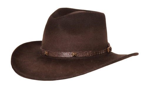 Outback Trading Co. Stamped Approval Mens Hat Brown Australian Wool UPF50