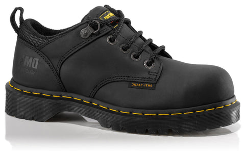 Dr Martens Black Unisex Ashridge Sd ST Greasy Leather Work Shoes